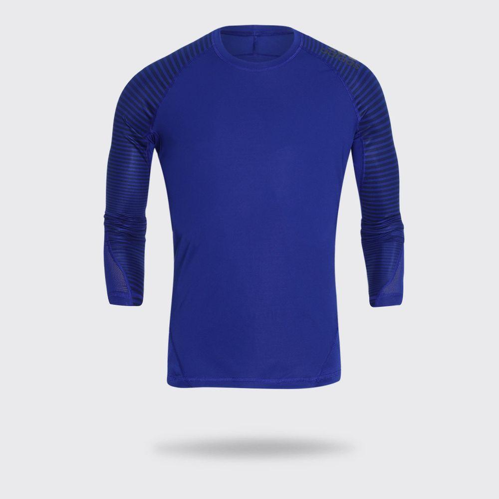 4054809ca47fa Camiseta Manga Longa Adidas Alphaskin Sport Graphic Azul Masculina ...