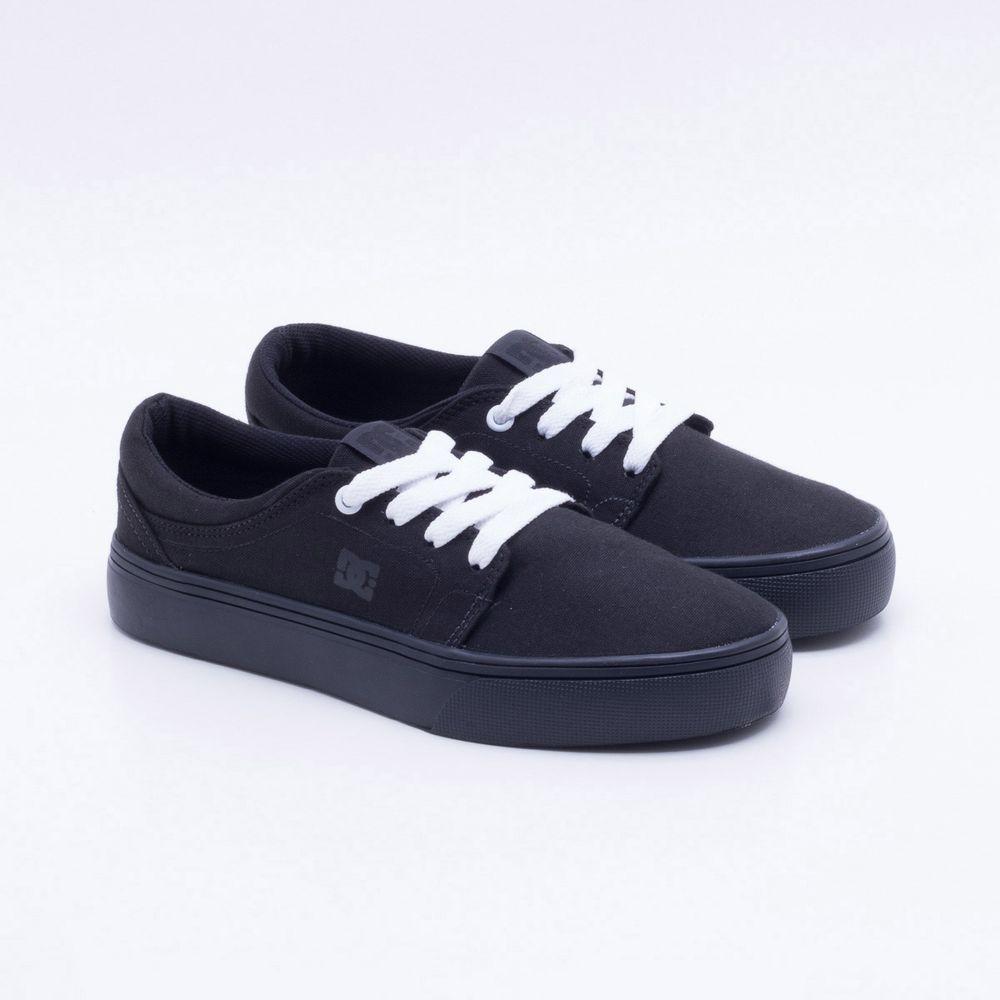 6dfd0a7a68fe2 Tênis DC Shoes Trase TX W Preto Feminino Preto - Gaston - Paqueta ...