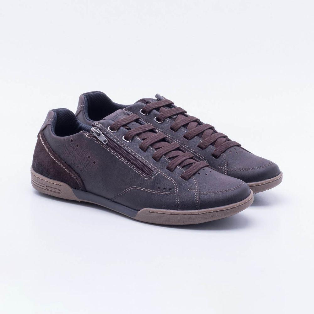 14e50d2d0d Sapatênis Pegada Flat Brown Masculino Brown - Gaston - Paqueta Calçados