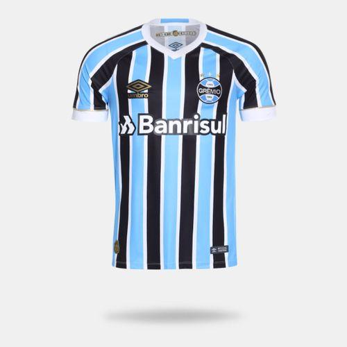 Camisa Umbro Grêmio I 2018 Sem Número Tricolor Torcedor Masculina d7774328958f7