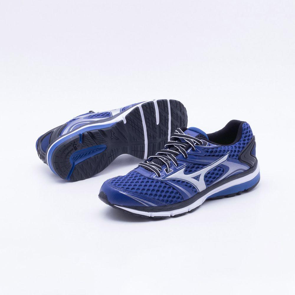 0247ec612 Tênis Mizuno Iron 2 N Masculino Azul e Prata - Gaston - Paqueta Esportes