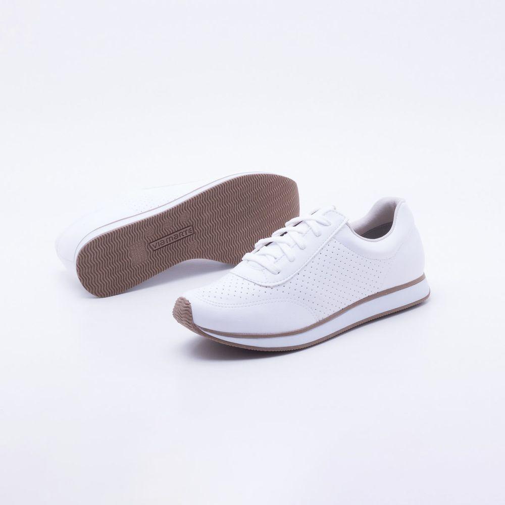 1d81624e34 Tênis Via Marte Branco Branco - Gaston - Paqueta Calçados