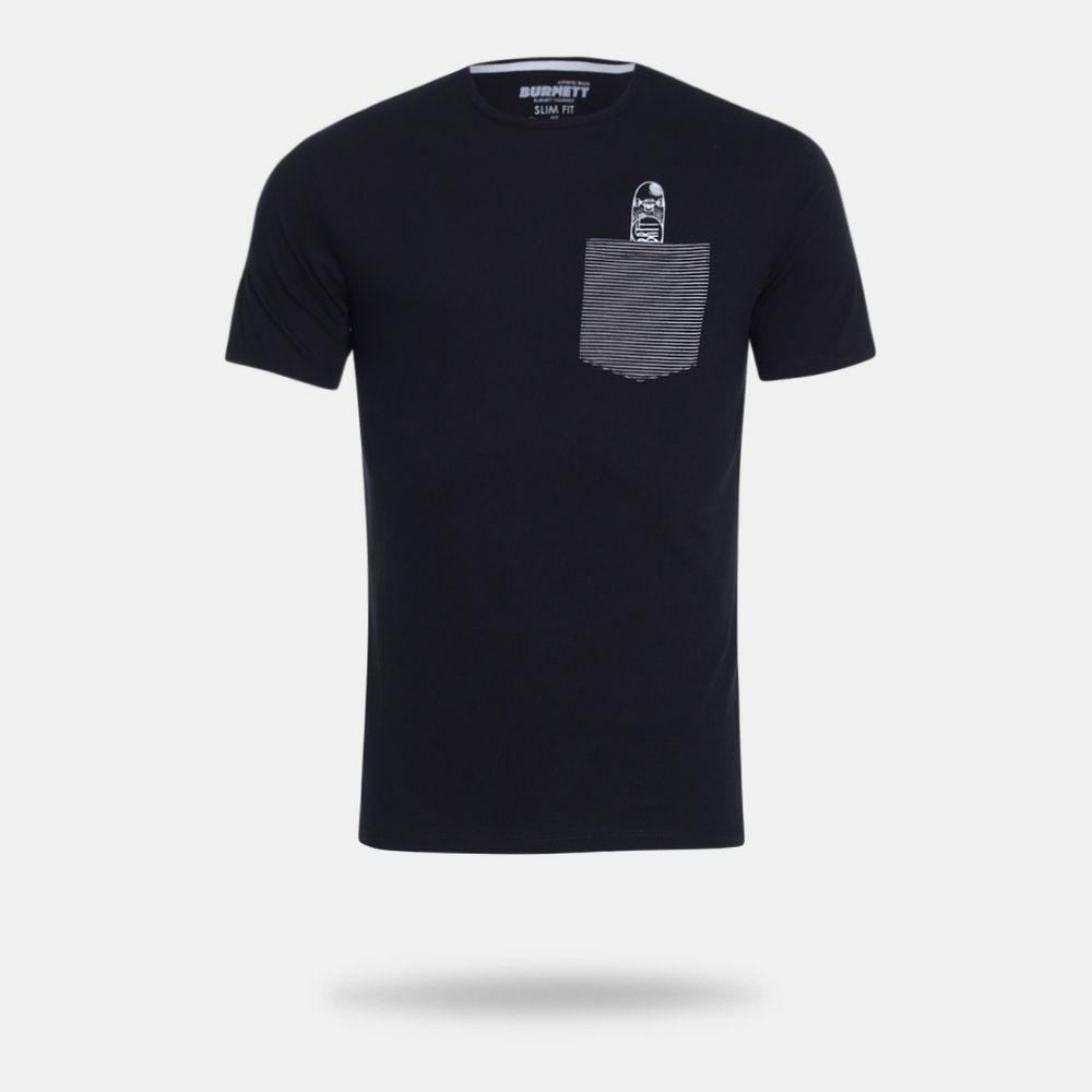 Camiseta Burnett Preta Masculina Preto - Gaston - Paqueta Esportes 8bf5d4abb00