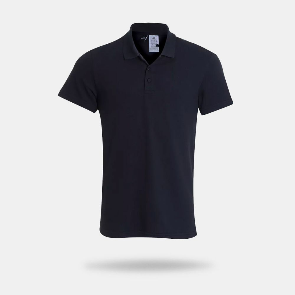 d93e20fae9374f Camisa Polo Adidas Essentials Base Preta Masculina Preto - Gaston ...