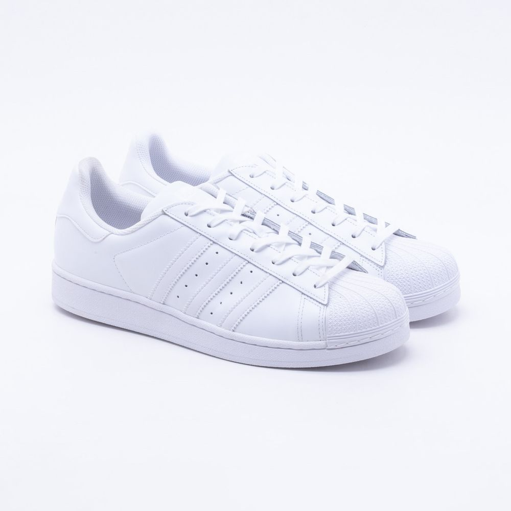 554028af1ea Tênis Adidas Superstar Foundation Originals Branco Masculino Branco ...