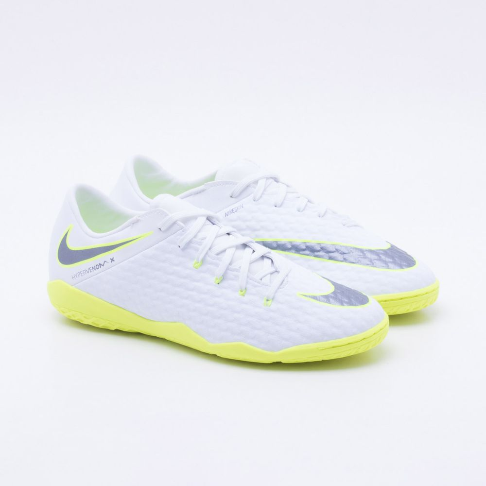 Chuteira Futsal Nike Hypervenom Phantom 3 Academy IC Branco e Verde Limão -  Gaston - Paqueta Esportes 5d722a2a67b5f