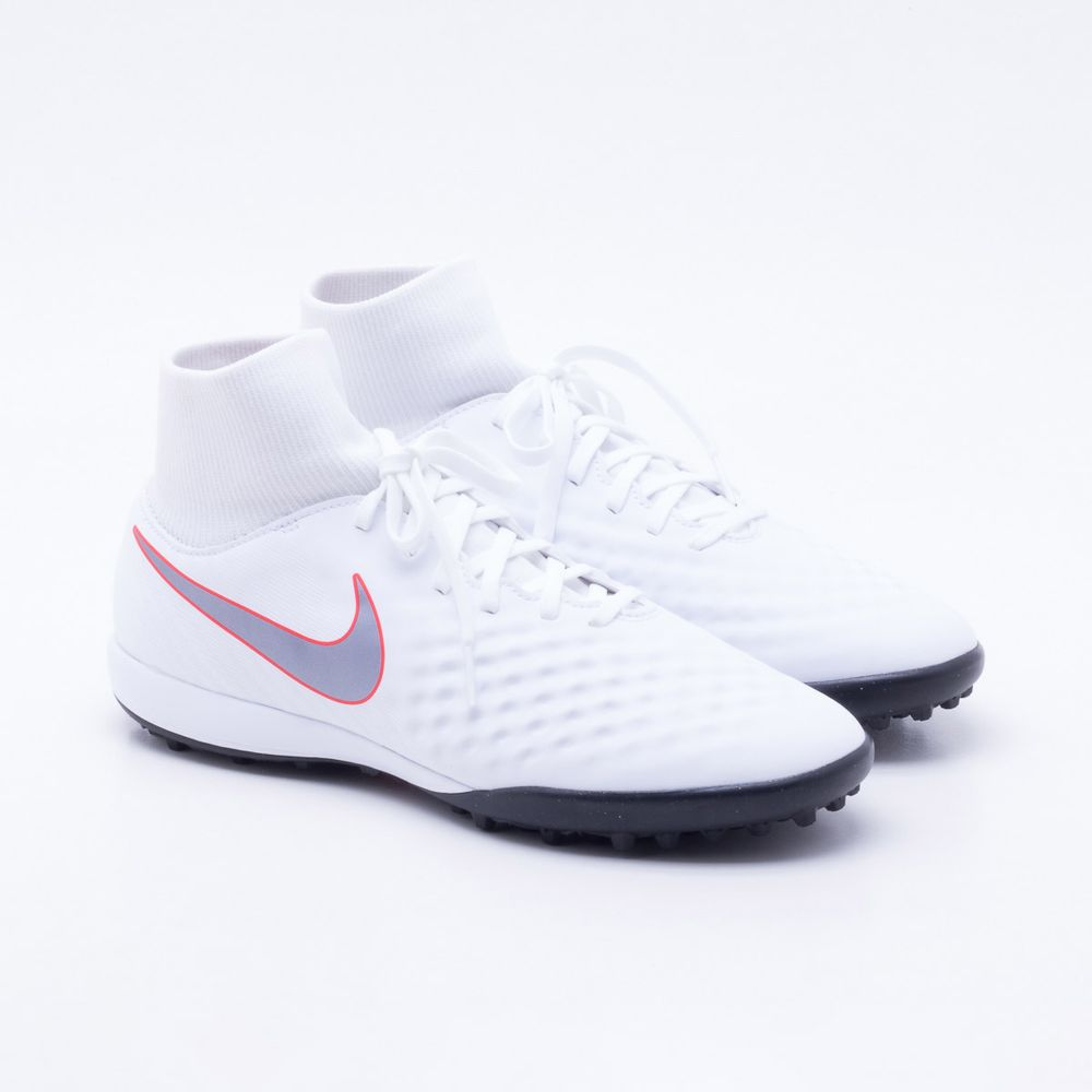 Chuteira Society Nike Magista ObraX 2 Academy TF Branco - Gaston ... a09889da36088