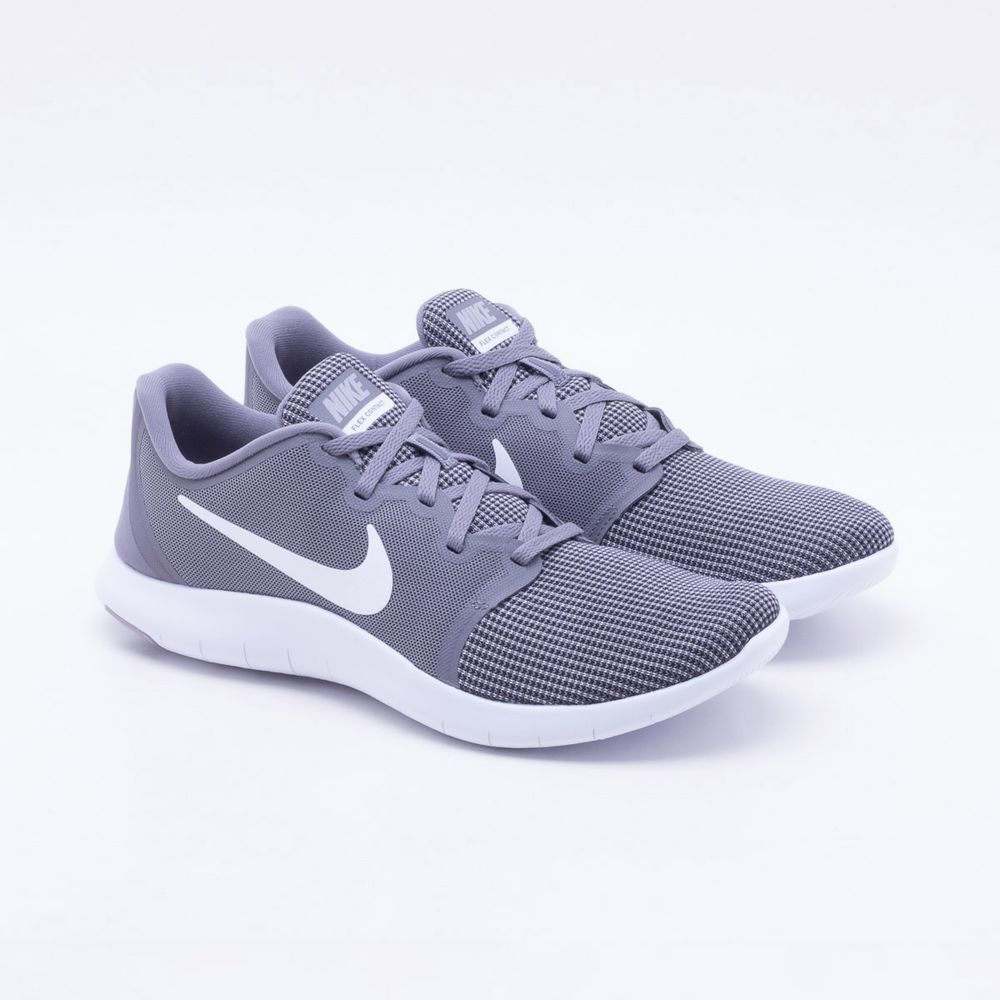 513b5cd53ff Tênis Nike Flex Contact 2 Masculino Cinza e Branco - Gaston ...
