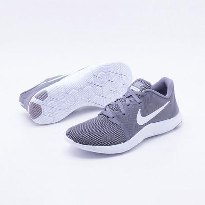 0f17baa8b6a3c Tênis Nike Flex Contact 2 Masculino Cinza e Branco - Gaston - Paqueta  Esportes