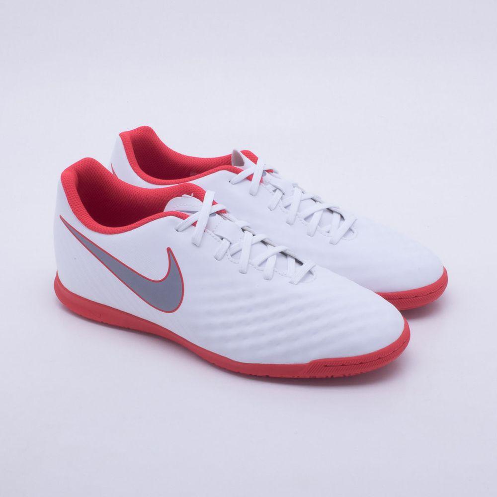 Chuteira Futsal Nike MagistaX Obra 2 Club IC Branco e Vermelho ... 67d5ec6c07175