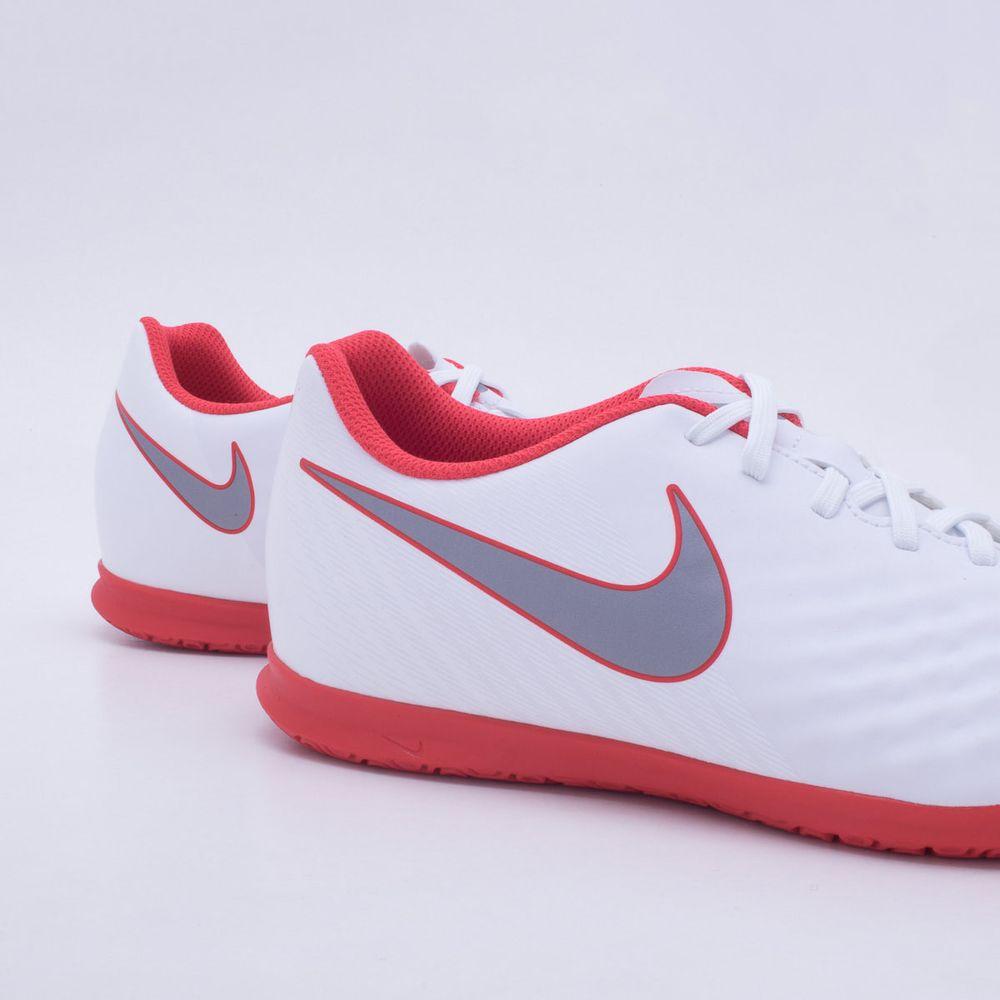 Chuteira Futsal Nike MagistaX Obra 2 Club IC Branco e Vermelho ... 7a7bd0f0a849a