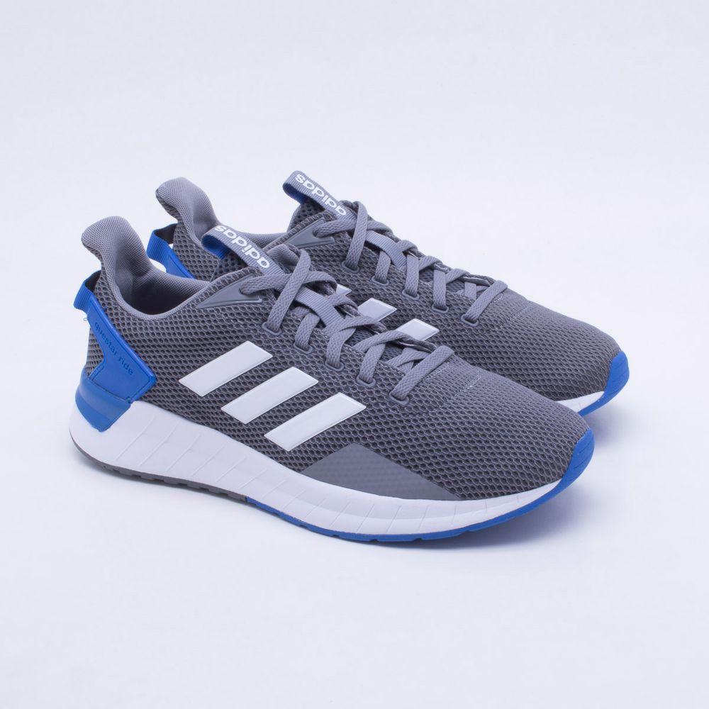 e930ee9d53 Tênis Adidas Questar Ride Masculino Cinza e Azul - Gaston - Paqueta ...