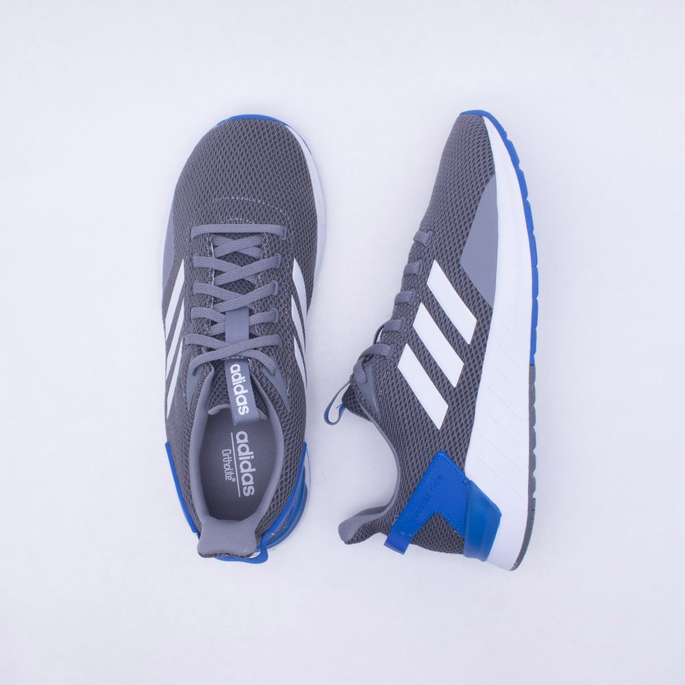 48b05085484 Tênis Adidas Questar Ride Masculino Cinza e Azul - Gaston - Paqueta ...