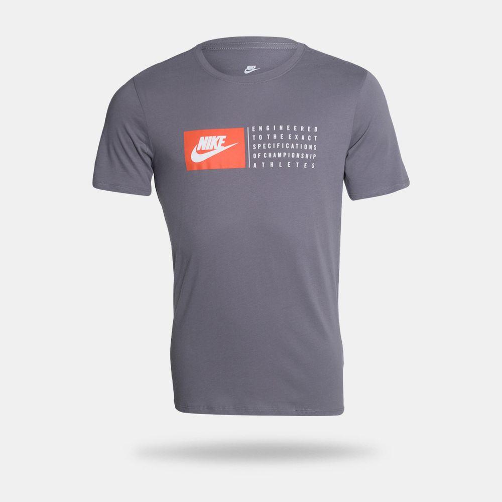 e4009bb7b4 Camiseta Nike Sportswer Verbiage 1 Cinza Masculina Cinza - Gaston ...
