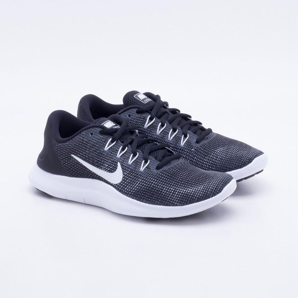 Tênis Gaston Nike Flex RN 2018 Feminino Preto e Branco Gaston Tênis Paqueta c4910a