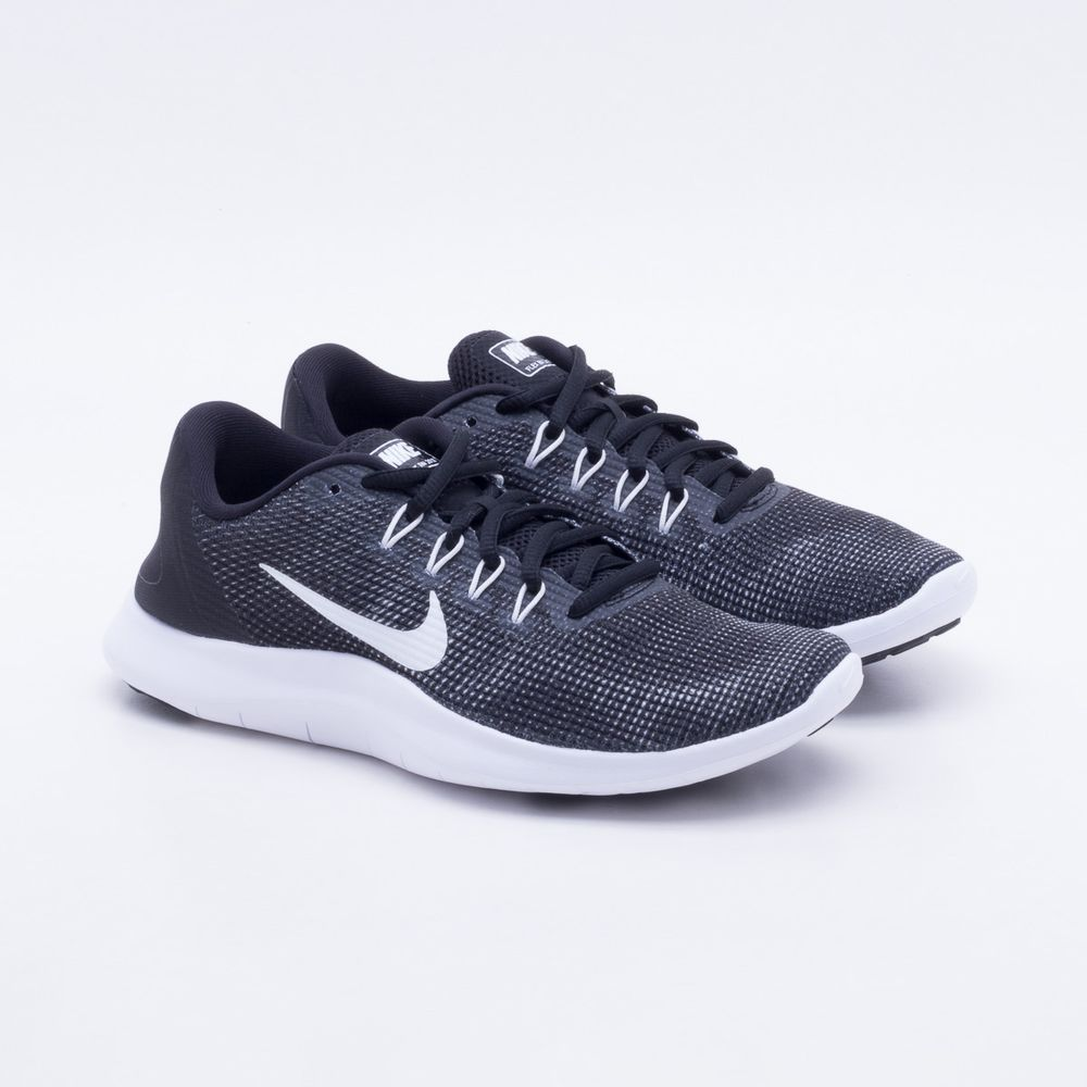 Tênis Nike Flex RN 2018 Feminino Preto e Branco - Gaston - Paqueta ... 033b0e45667e8