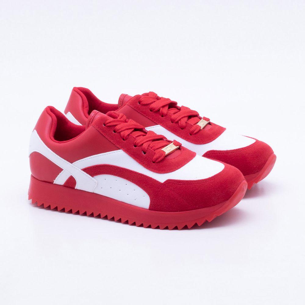 94e99fd817 Tênis Vizzano Camurça Vermelho Vermelho - Gaston - Paqueta Calçados