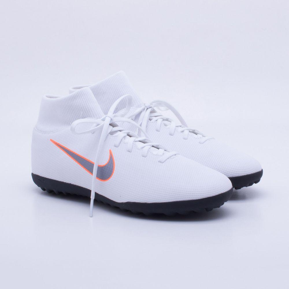 Chuteira Society Nike MercurialX Superfly 6 Club TF Branco - Gaston ... 6676803701d62
