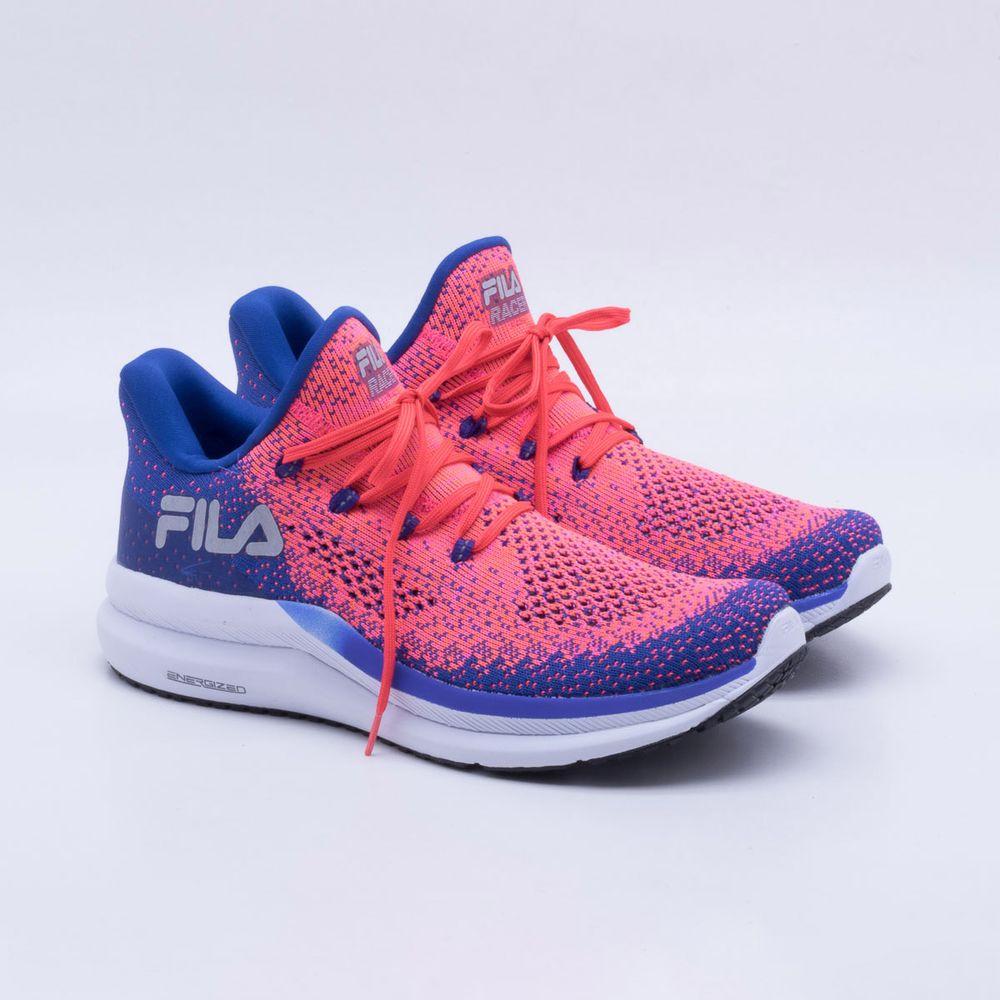 Tênis Fila Racer Knit Energized Feminino Royal e Rosa - Gaston ... 02b7a03695d80