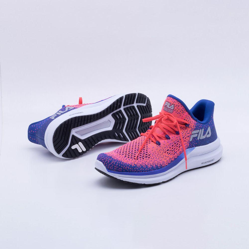 Tênis Fila Racer Knit Energized Feminino Royal e Rosa - Gaston - Paqueta  Esportes 6dd297f2741c0