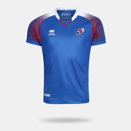 Camisa Errea Islândia 2018 I Azul Masculina 090ea55910fb2