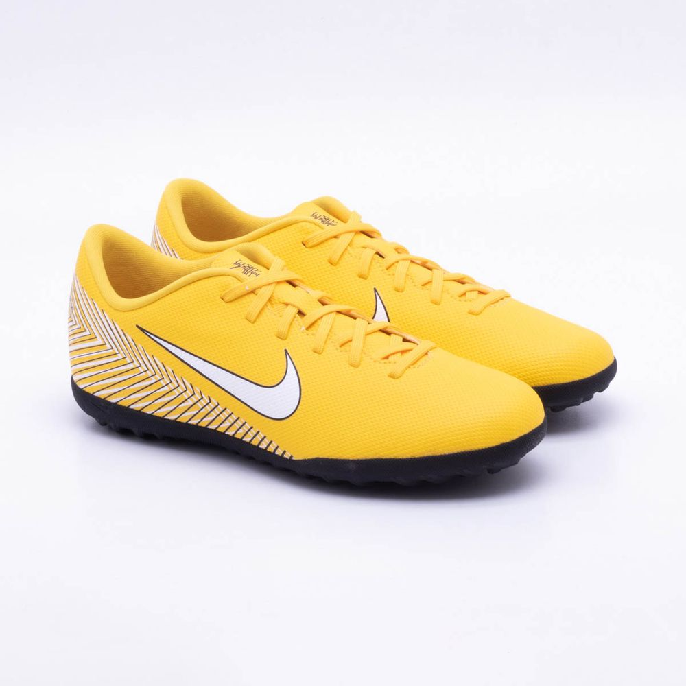 f81d672463aeb Chuteira Society Nike MercurialX Vapor XII Club Neymar TF Amarelo e ...