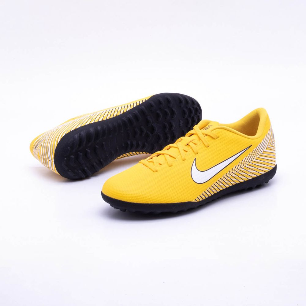 409d7508ba81f Chuteira Society Nike MercurialX Vapor XII Club Neymar TF Amarelo e ...