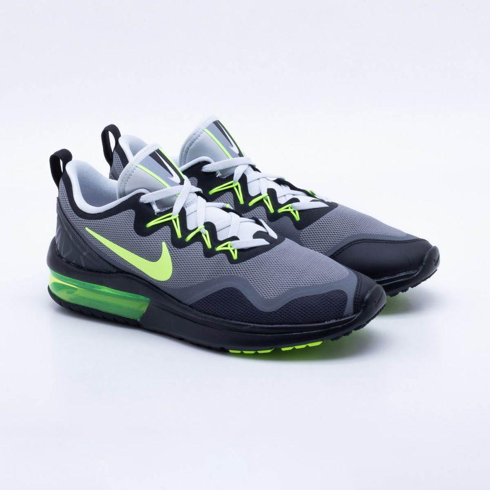 7ba1469ca8 Tênis Nike Air Max Fury Masculino Preto e Verde - Gaston - Paqueta ...