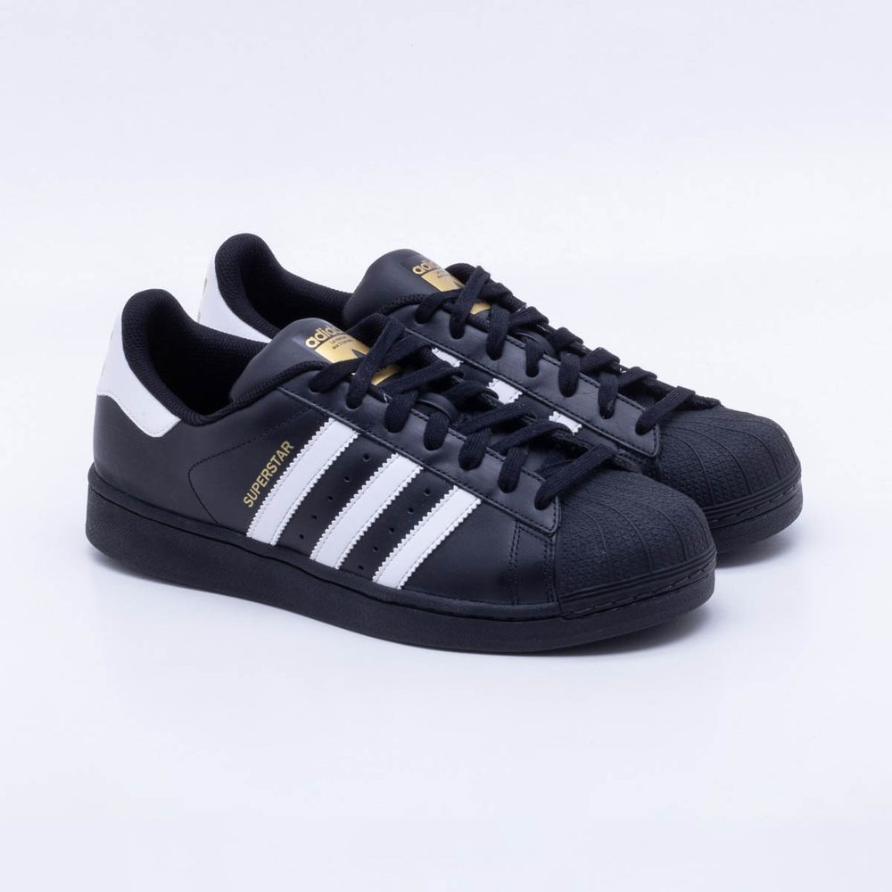 4f6cb46a9e Tênis Adidas Superstar Foundation Originals Preto Masculino Preto ...