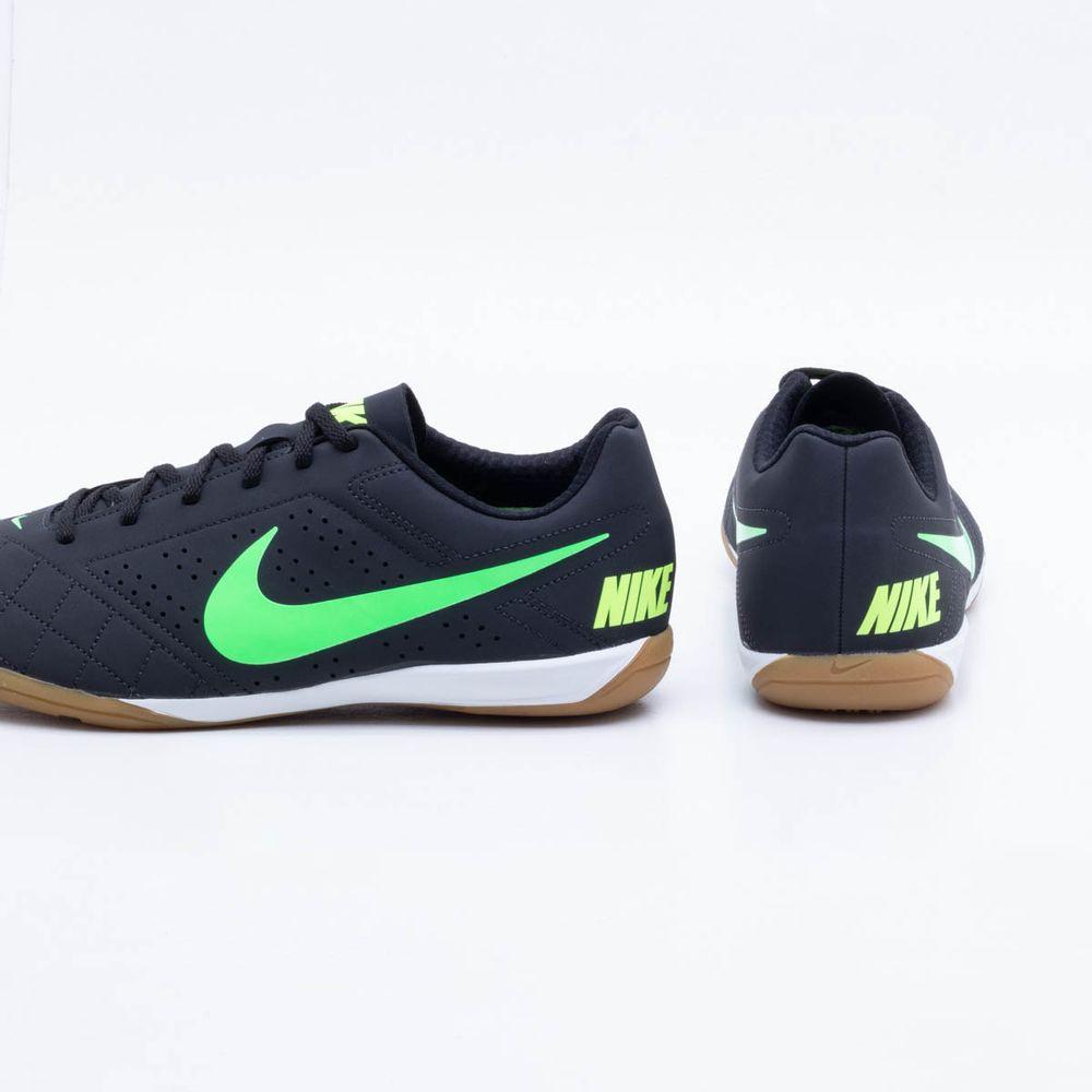 224cb6c9ee Chuteira Futsal Nike Beco 2 Preto e Verde - Gaston - Paqueta Esportes