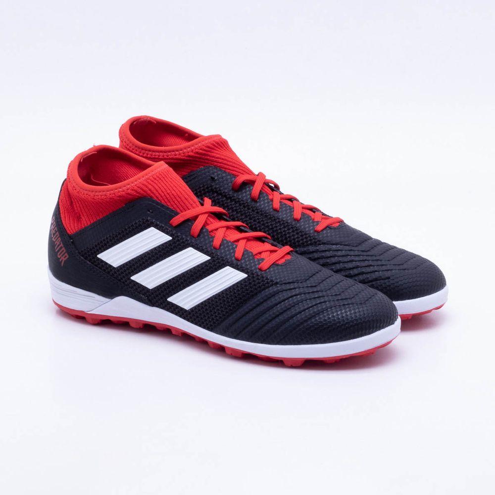 5505de4379 Chuteira Society Adidas Predator Tango 18.3 TF Preto e Vermelho ...
