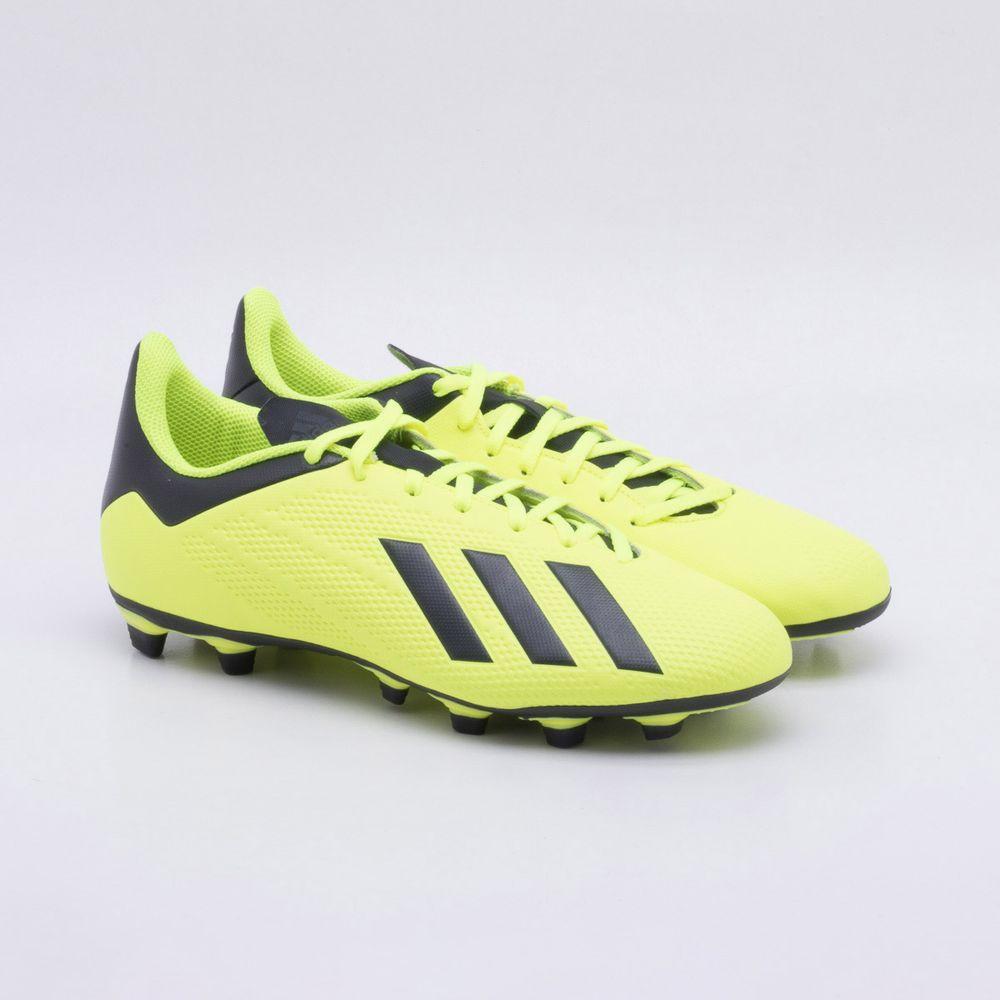 Chuteira Campo Adidas X 18.4 FXG Amarelo Neon - Gaston - Paqueta Esportes b11f6b1771137