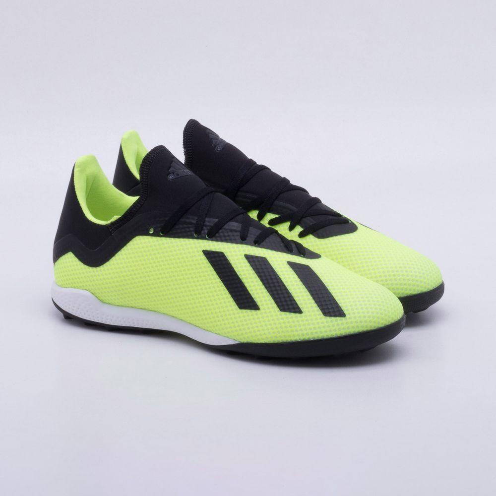 f7232f84a1826 Chuteira Society Adidas X Tango 18.3 TF Amarelo Neon - Gaston ...