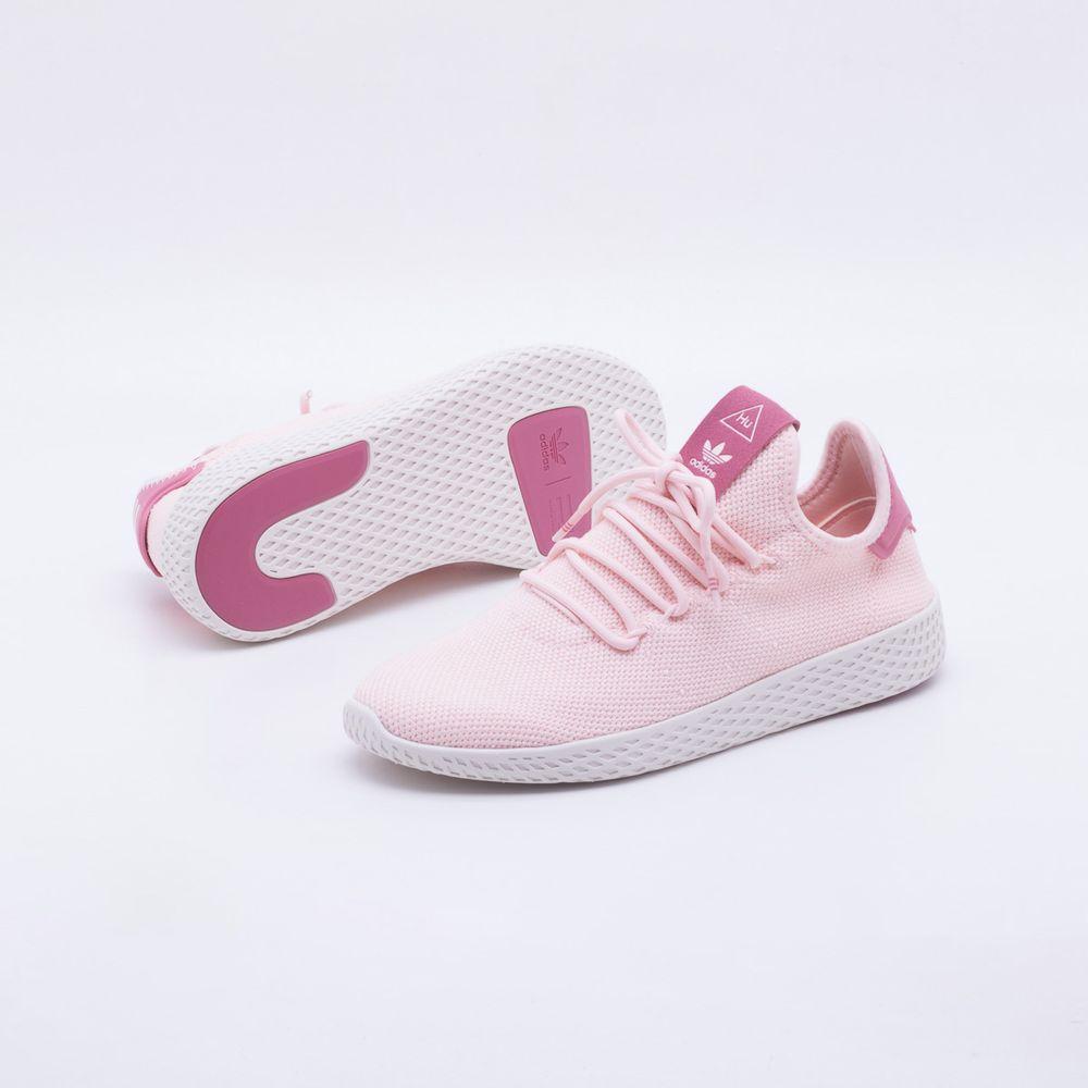 0ba0fa3014 Tênis Adidas Pharrel Wiliams HU Originals Feminino Rosa e Branco ...