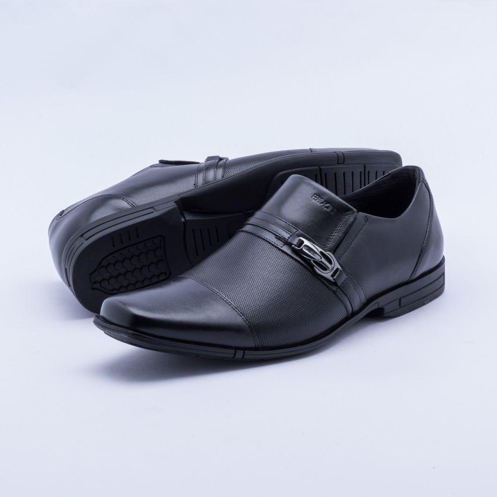 caee0dd367 Sapato Social Ferracini Bristol Preto Masculino Preto - Gaston - Paqueta  Calçados