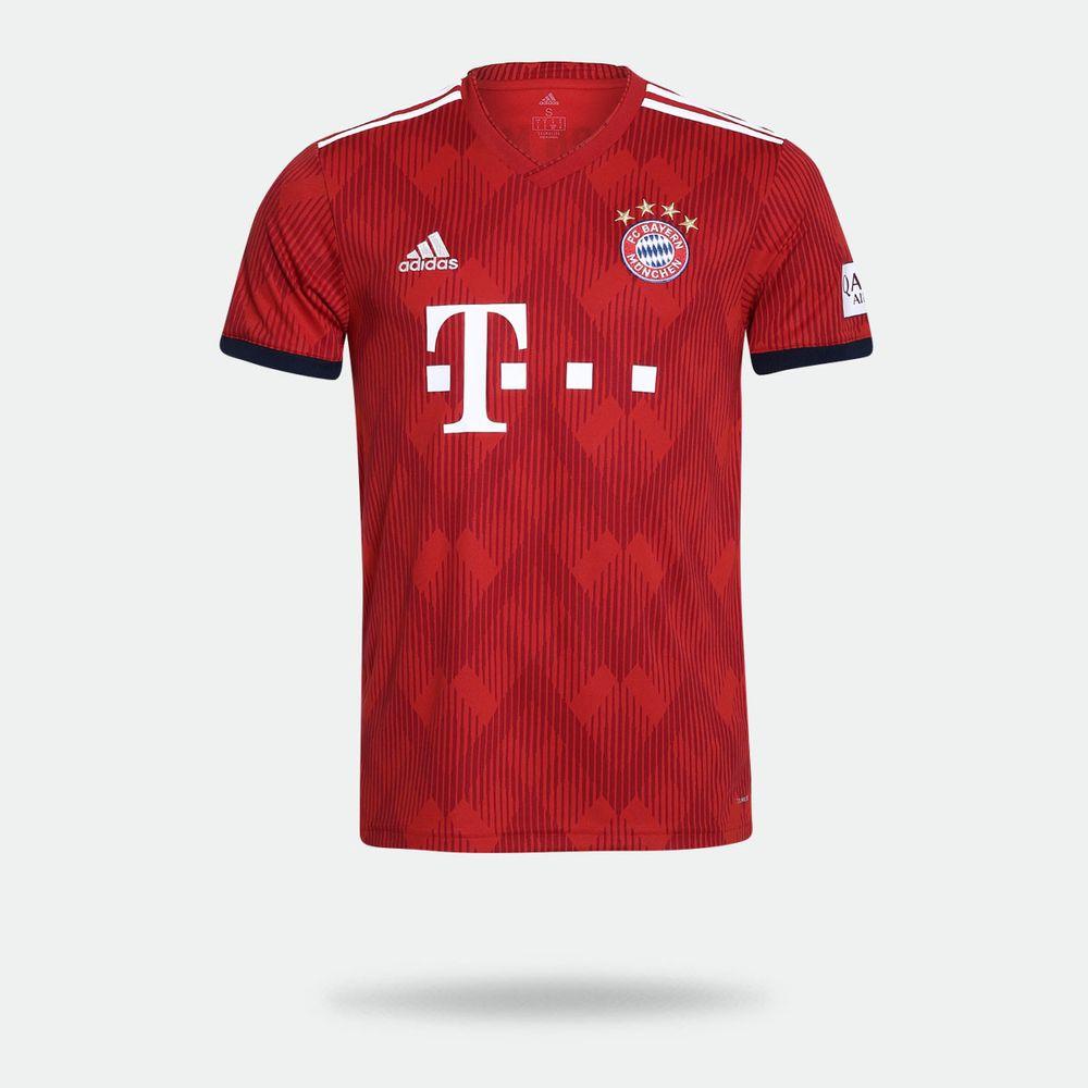 da59cfda9c Camisa Adidas FC Bayern Munique I 2018 2019 Torcedor Vermelha ...