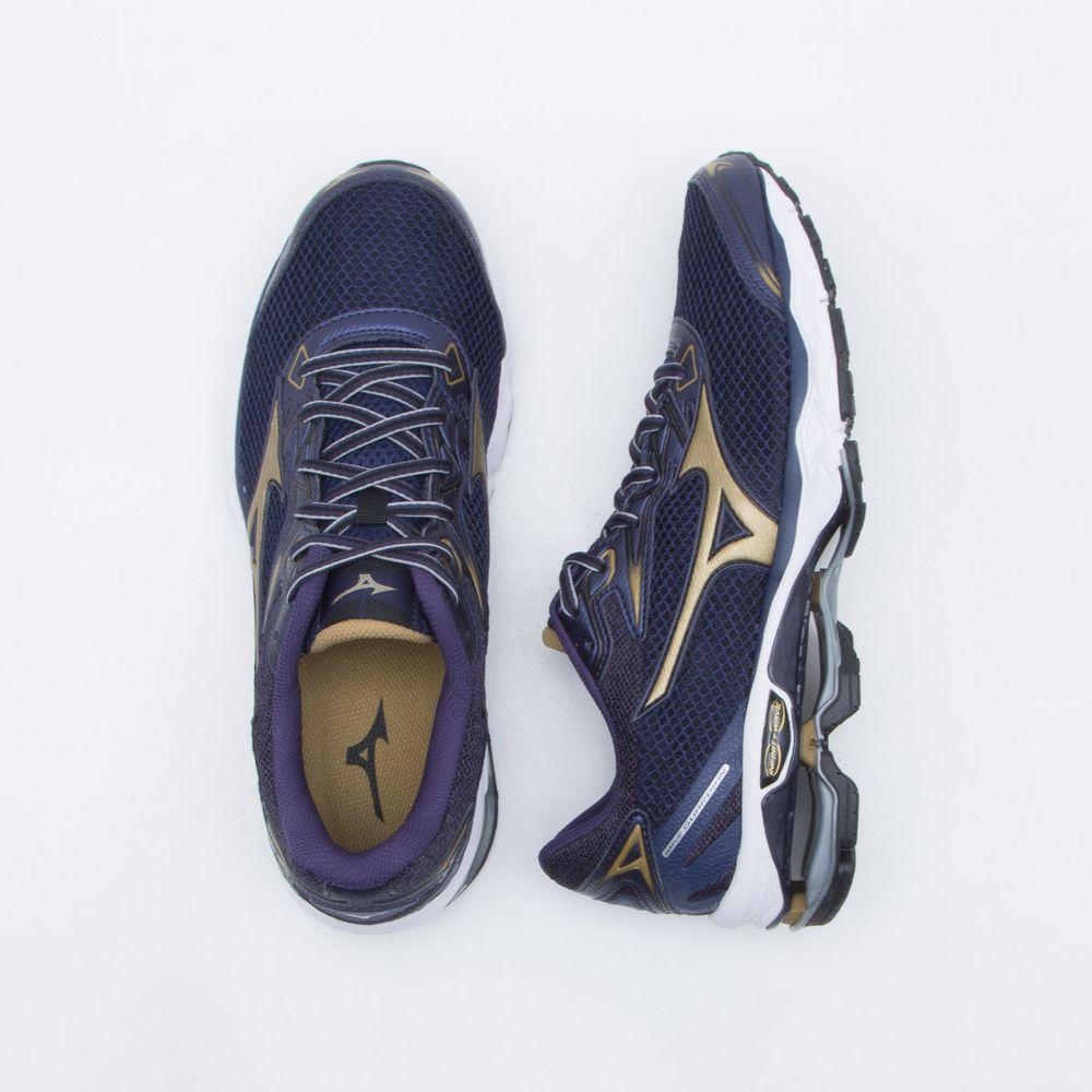 Tênis Mizuno Wave Guardian S Masculino Azul e Dourado - Gaston - Paqueta  Esportes b45e017ad41c6