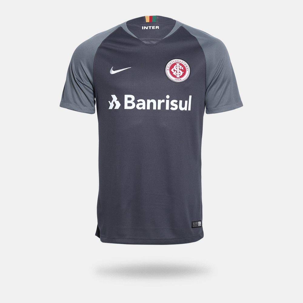 Camisa Nike Internacional 2018 2019 III Torcedor Cinza Masculina ... ba6734fb59a0a