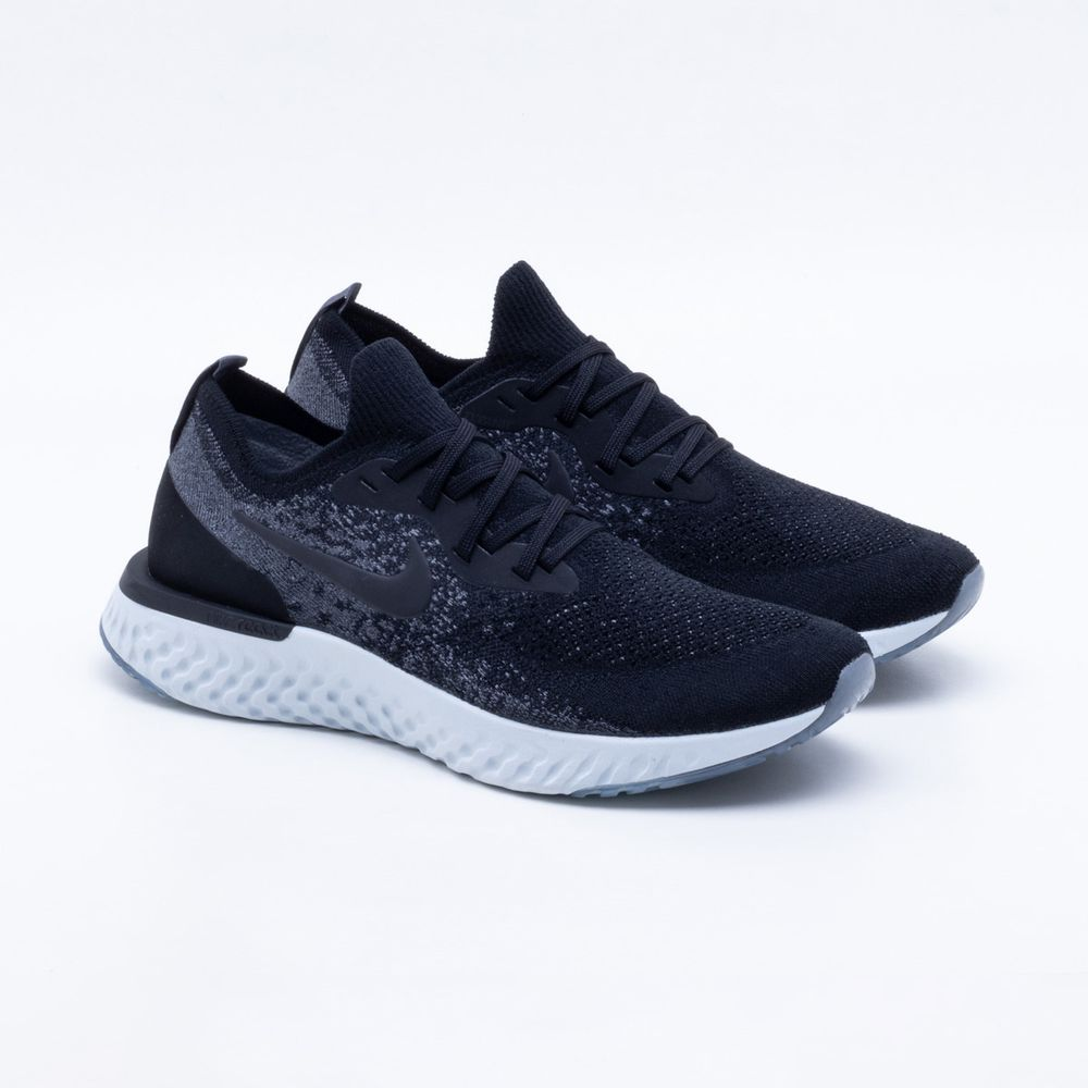 Tênis Nike Epic React Flyknit Masculino Preto - Gaston - Paqueta ... 08b292b8532a8