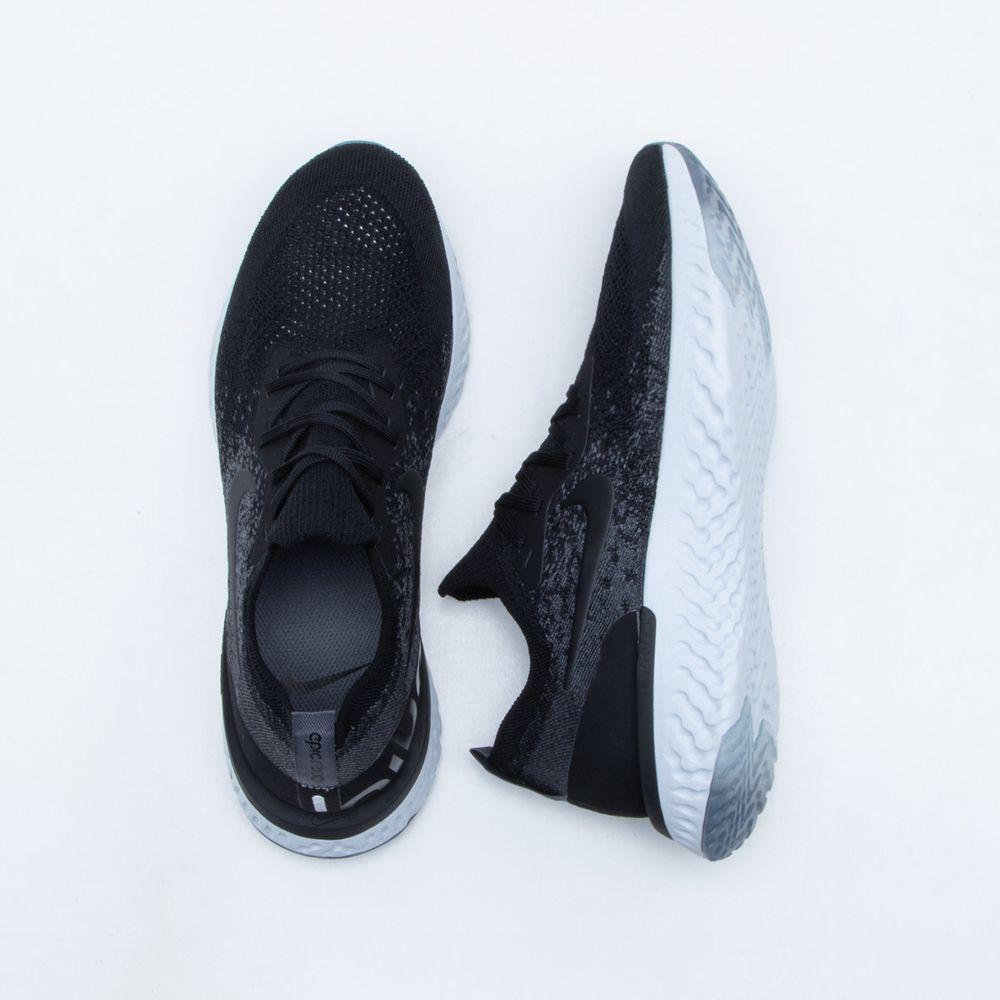 Tênis Nike Epic React Flyknit Masculino Preto - Gaston - Paqueta Esportes d50c6b7163115