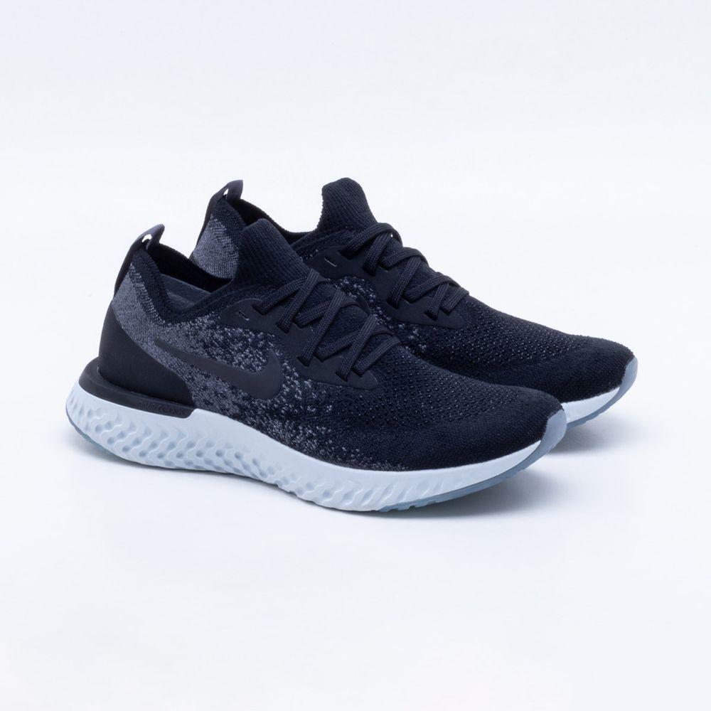 buy online aec48 1f05b Tênis Nike Epic React Flyknit Feminino Preto e Branco - Gast