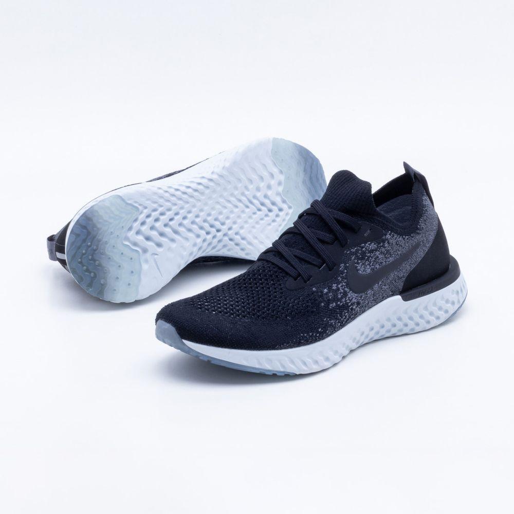 Tênis Nike Epic React Flyknit Feminino Preto e Branco Branco e Gaston aeb2a0 d0af89d8aaca3