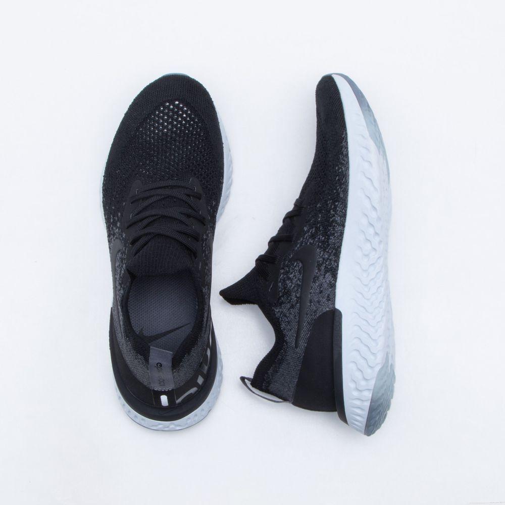 Tênis Nike Epic React Flyknit Feminino Preto e Branco - Gaston - Paqueta  Esportes ad0526959788d