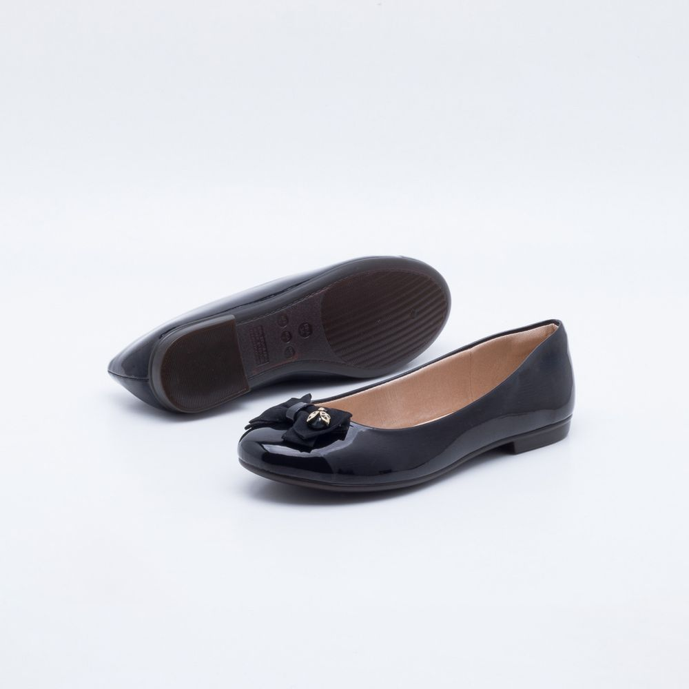 539cfd54457 Sapatilha Twin Set Verniz Preta Preto - Gaston - Paqueta Calçados