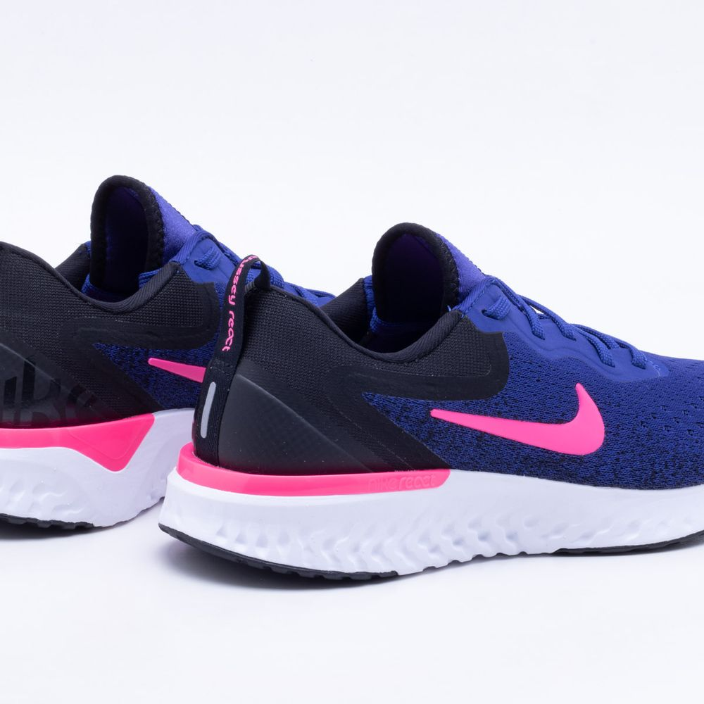 Tênis Nike Glide React Feminino Azul Royal e Rosa - Gaston - Paqueta  Esportes 4466f293118d4