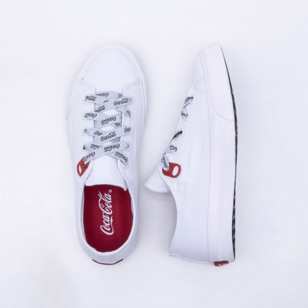 Tênis Coca-Cola Shoes Basket Canvas Feminino Branco - Gaston - Gaston 5a1727c78da3f