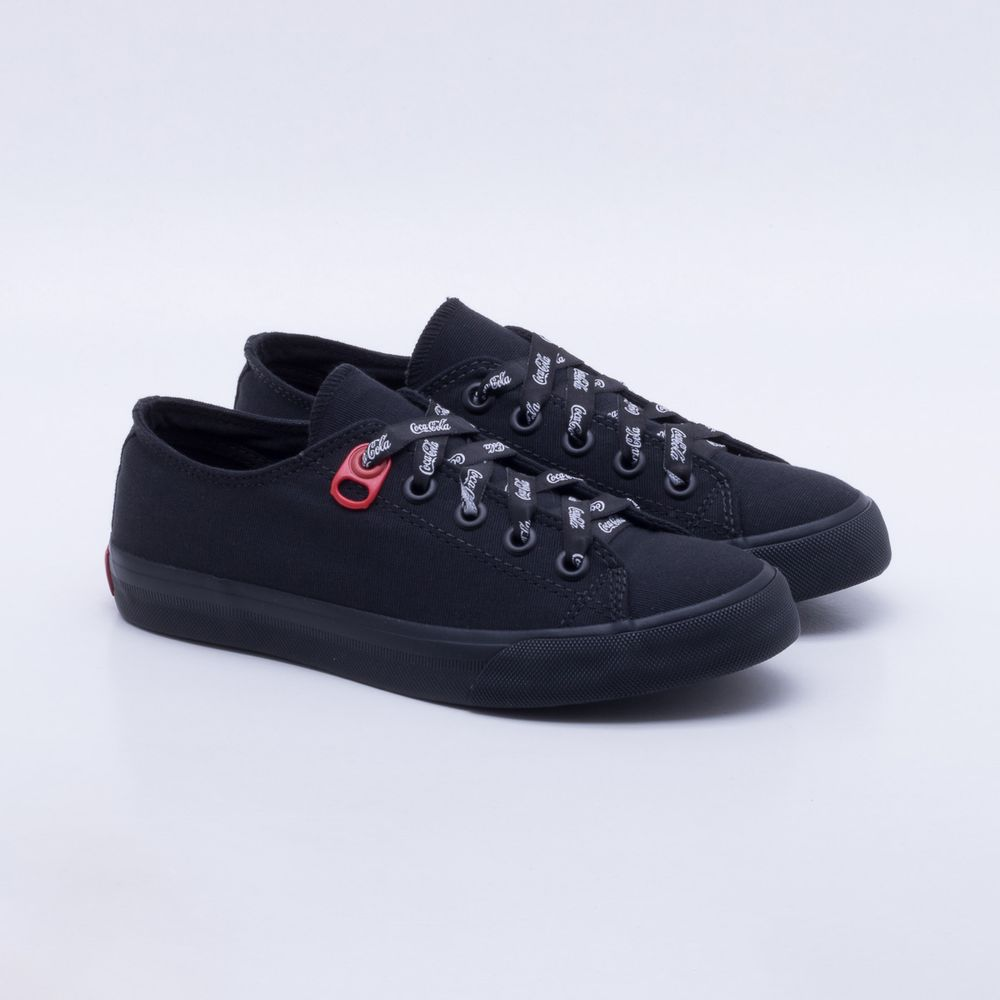96f15f96c5 Tênis Coca-Cola Shoes Basket Canvas Feminino Preto - Gaston ...