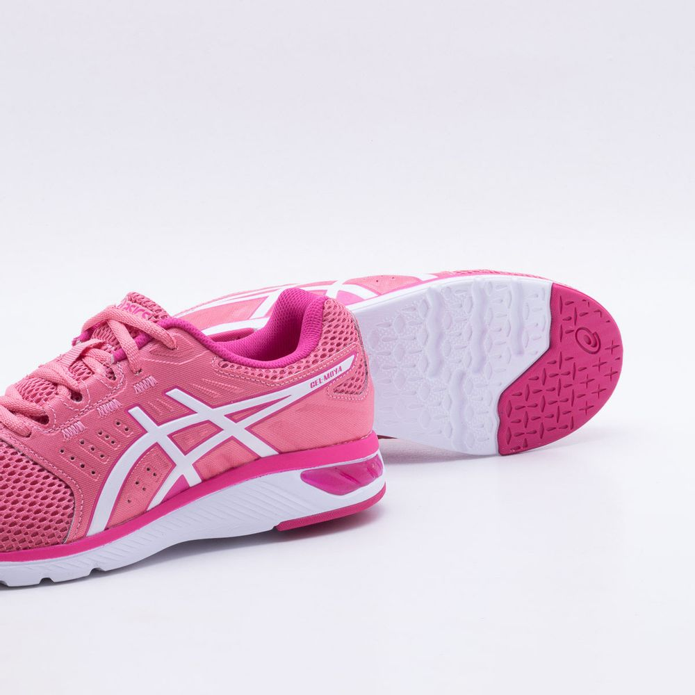 4d608b52c1 Tênis Asics Gel Moya Feminino Rosa e Branco - Gaston - Paqueta Esportes