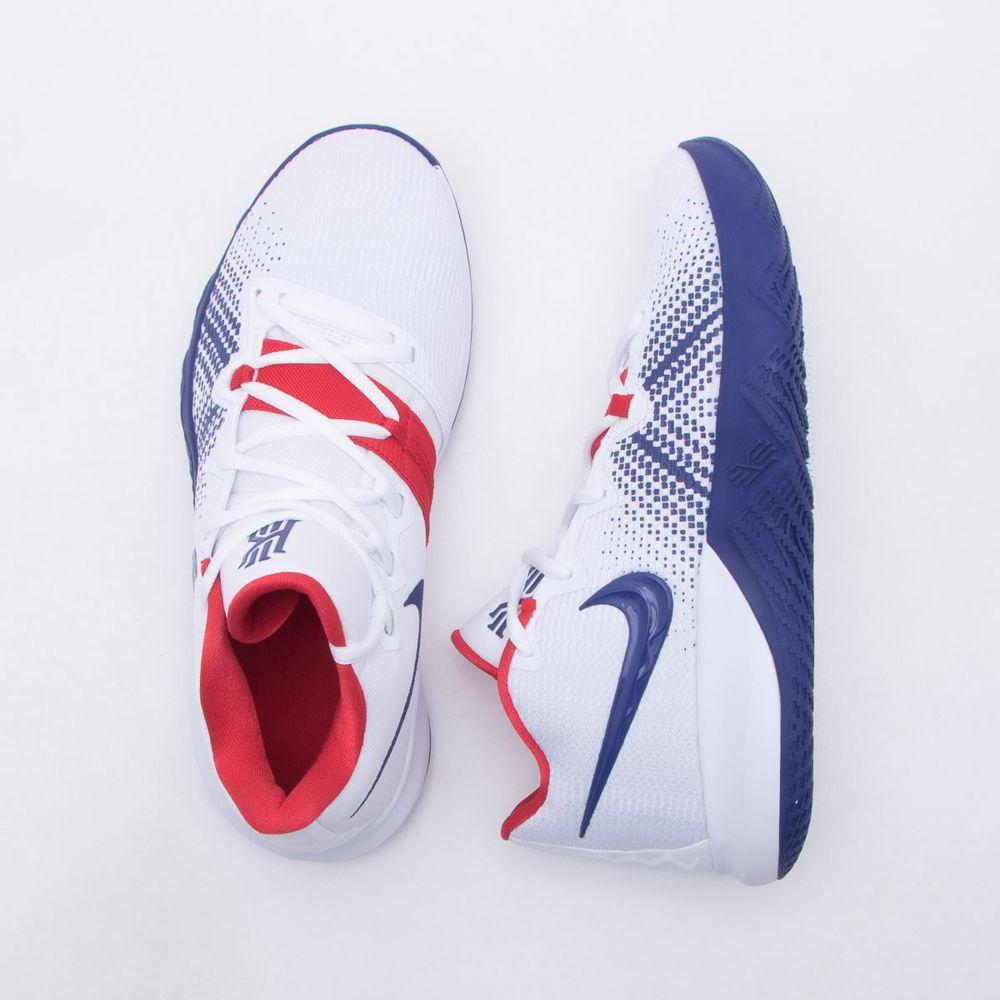 5aa6840368e Tênis Nike Kyrie Flytrap Masculino Branco e Azul - Gaston - Paqueta ...