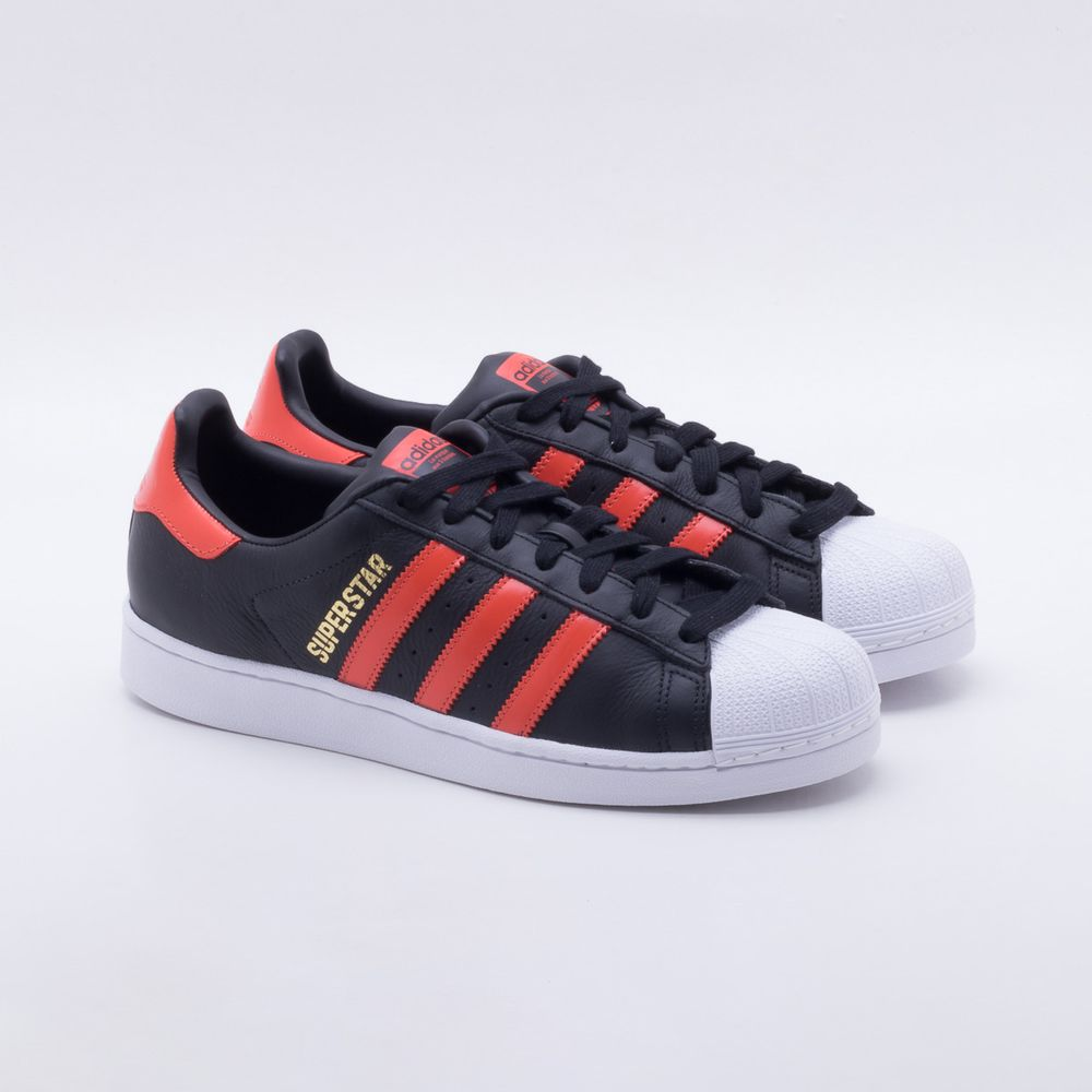 b6ff61883 Tênis Adidas Superstar Originals Preto Masculino Preto - Gaston ...